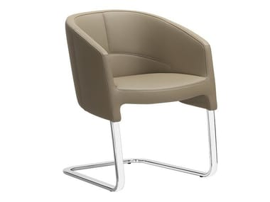 Cantilever leather easy chair OF COURSE | Cantilever easy chair
