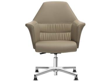 Swivel aluminium task chair with 4-Spoke base with armrests OF COURSE | Task chair with 4-Spoke base