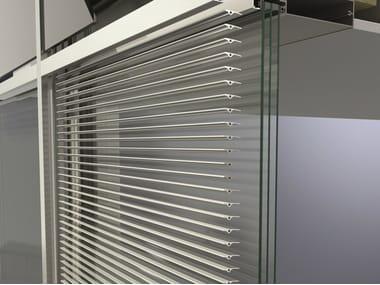 Extruded aluminium solar shading Schüco CAB