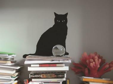Vinyl wall sticker GUITOU THE CAT BLACK