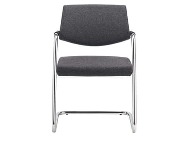 Cantilever visitor's chair with Armrests PASSE-PARTOUT | Cantilever chair