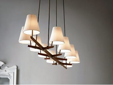 Lampadario In Legno Design : Lampadari in legno ispiratore lampadario rustico in legno design