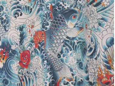 Cotton fabric JEAN PAUL GAULTIER - ROCK