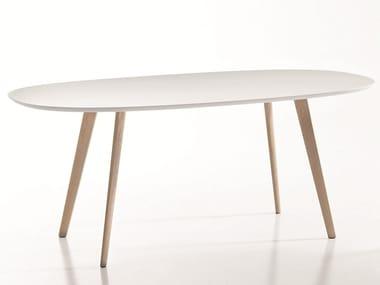 Tavolo ovale in legno design GHER | Tavolo ovale