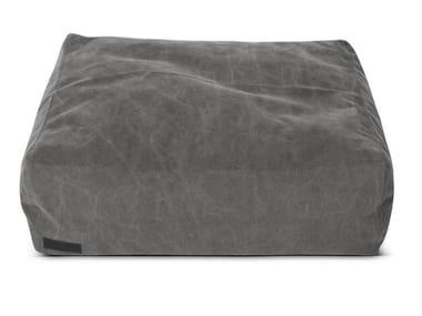 Pouf sacco imbottito quadrato in tela CLUB LOUNGE SQUARE