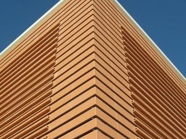 Rivestimento in terracotta per facciata ventilata T-SHAPE