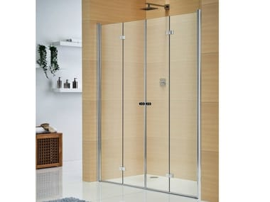 Crystal shower cabin with folding door MULTI-S 4000