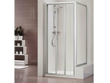 Methacrylate shower cabin with sliding door DUKESSA 3000