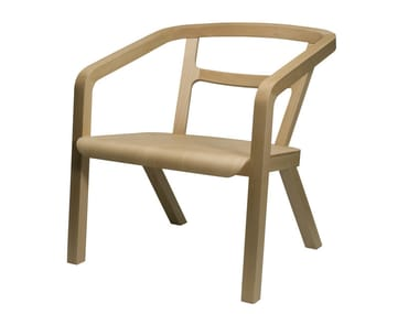 Wooden chair with armrests ENO