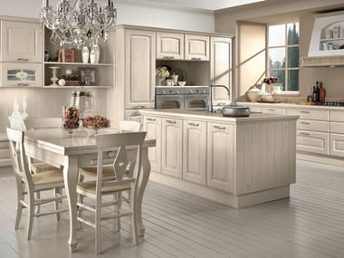 Wooden kitchen with island VERONICA | Kitchen
