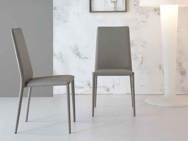 Upholstered high-back chair ERAL