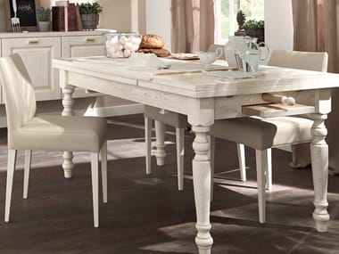 Extending wooden kitchen table VECCHIA TOSCANA