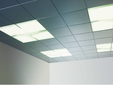 Sound absorbing metal ceiling tiles PROMETAL®