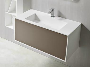 Mobile lavabo in Corian con cassetto UNICO | Mobile lavabo in Corian®