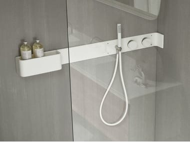 Corian® bathroom wall shelf / shower tap ERGO-NOMIC | Bathroom wall shelf