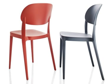 Stackable technopolymer chair AMY | Chair