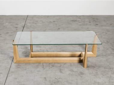 Low Glass Coffee Table GAUDO   Rectangular Coffee Table