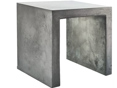 Cement garden stool with light PANCHETTO