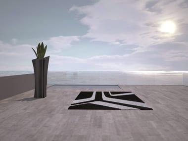 Patterned Rectangular outdoor rug MOONBEAM