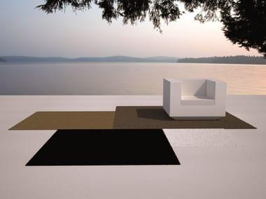 Solid-Color Square outdoor rug VELA | Outdoor rug