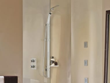 Shower wallbar with hand shower with hose FLAT ONE