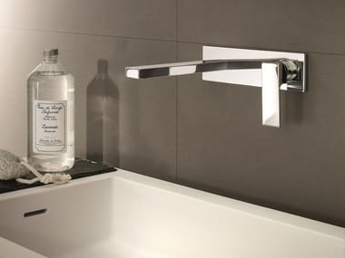 Wall-mounted washbasin mixer with plate MINT | Washbasin mixer with plate