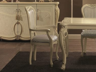 Classic style high-back upholstered chair with armrests TIZIANO | Chair with armrests