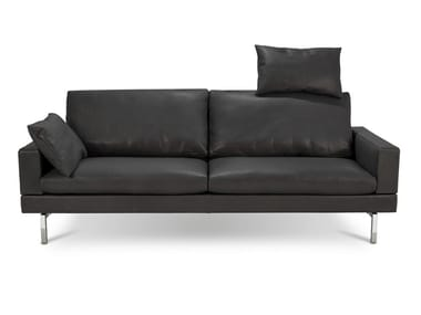 Sofa with removable cover with headrest TIGRA OPEN BASE | 3 seater sofa