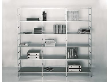 Freestanding sectional aluminium shelving unit K3