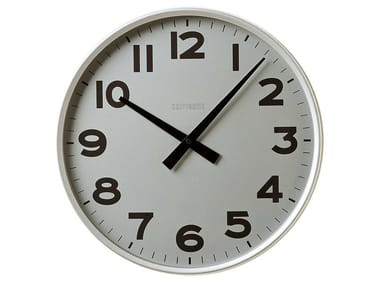 Wall-mounted aluminium clock CLASSICO