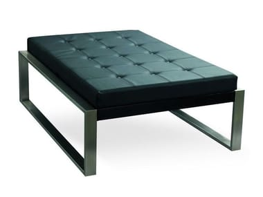 Leather footstool PIECERA 130 LOUNGE