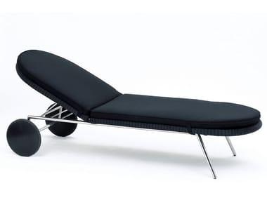 Tumbona de jardín reclinable en Batyline® SHELL SUNBED | Tumbona de jardín
