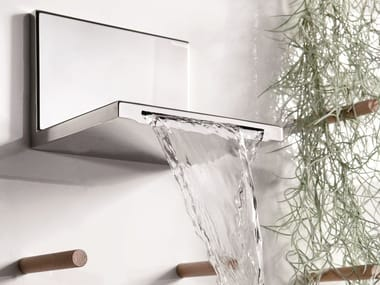 Chrome-plated wall-mounted waterfall spout WATERBLADE | Spout