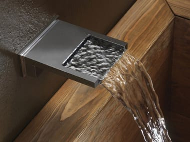 Chrome-plated wall-mounted waterfall spout BOCCA CASCATA XL | Waterfall spout