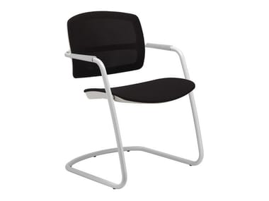 Cantilever ergonomic chair with armrests PK | Cantilever chair
