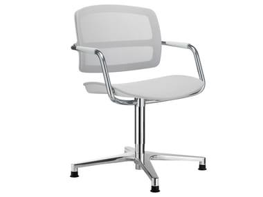 Chaise à 4 branches avec accoudoirs PK | Chaise avec accoudoirs