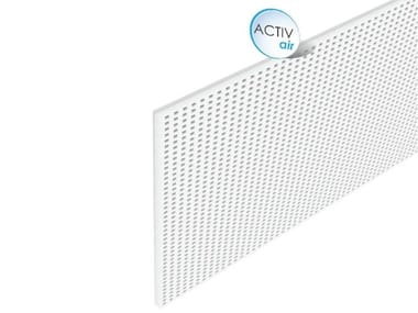 Pannelli per controsoffitto acustico in cartongesso GYPROC RIGITONE™ ACTIV'AIR® 12/25 Q