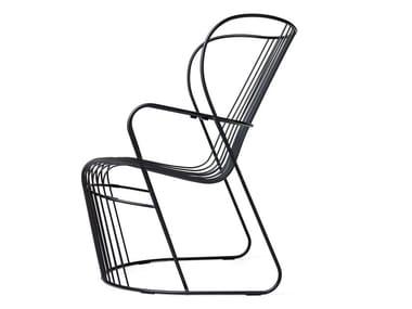 Steel garden armchair KASKAD | Garden armchair