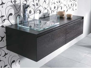 Single wall-mounted vanity unit with drawers MINIMAL 30