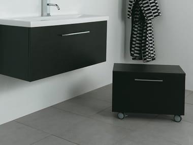 Wooden bathroom cabinet with doors SYSTEM | Storage bathroom cabinet