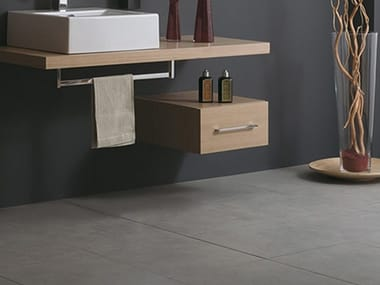 Suspended wooden bathroom cabinet with drawers CSS-A