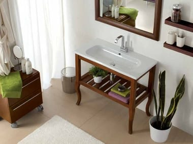 Solid Wood Console Sink OVAL | Solid Wood Console Sink