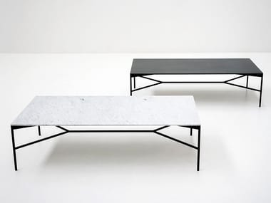 Low rectangular marble coffee table CHILL-OUT | Coffee table