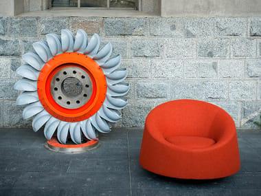 Fabric armchair CRYSTAL | Swivel armchair
