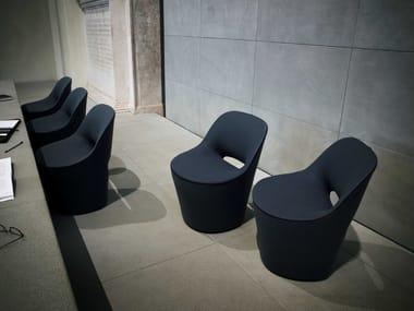 Swivel fabric easy chair EDDY