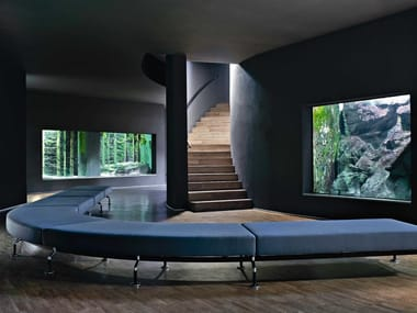 Upholstered modular bench INTERCITY | Bench