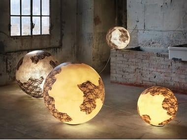Lampada da terra per esterno in vetroresina ULULÌ - ULULÀ | Lampada da tavolo