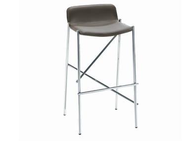 Upholstered barstool TRAMPOLIERE IN | Barstool
