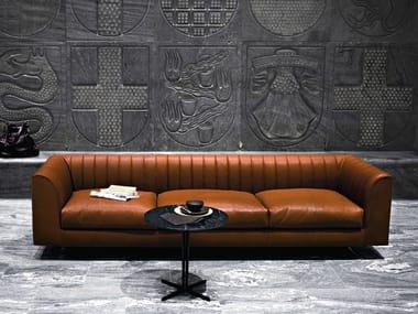 Leather sofa QUILT | Leather sofa