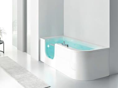 Vasca da bagno angolare idromassaggio con doccia FOR ALL